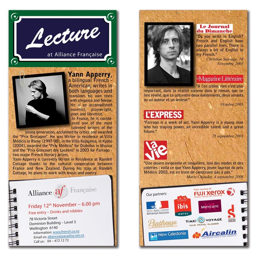 Yann Apperry talk at Alliance Francais
