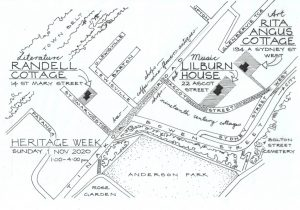 Heritage week map of Thorndon